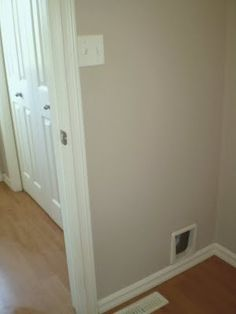 this may be the solution to my cat box. *passthrough looks a lot better in the wall than in the door!