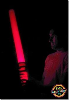 How to make a Light Saber that lights up! Pool noodle and flashlight. So simple and fun!