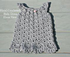 Silver newborn baby girl crochet jumper by crochetyknitsnbits
