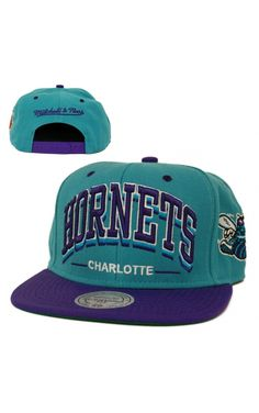 CASQUETTE MITCHELL NESS SNAPBACK TRIPLEAR HORNETS