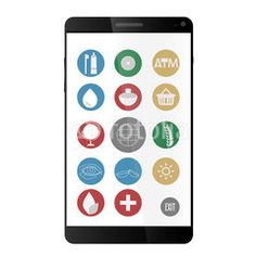 Health and care online shop phone #buttons #designs #internet, #tools #icon #technology #image #decoration #market #buy #sales #people #mall #concept #online #commerce #graphic #vector