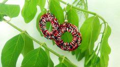 Made to order crochet earring crochet jewelry fiber by GuruMIme, $7.00