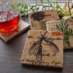 Shop for coasters on Etsy, the place to express your creativity through the buying and selling of handmade and vintage goods. Photo Coasters, Diy Coasters, Stone Coasters, Custom Coasters, Personalized Coasters, Tin Can Crafts, Diy Crafts, Wedding Coasters, Bottle Cap Crafts