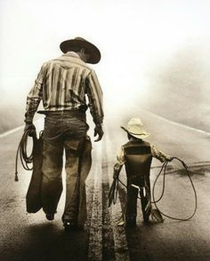 Slate and his nephew, Mac?     Father and son cowboys.Please check out my website thanks. www.photopix.co.nz
