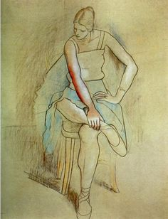 Pablo Picasso. Danseuse assise (Olga Picasso). 1920
