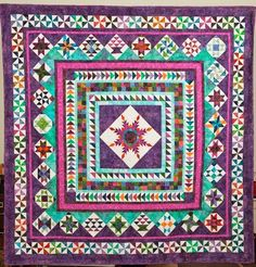 Amazingly beautiful. Looks complicated; however,this quilt makes me smile.