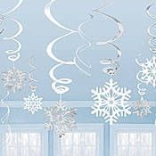 Snowflake Value Pack Hanging Swirls $4.99 for 12