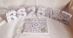 Letras/Números 3D e Livro de Assinaturas para Bodas de Prata