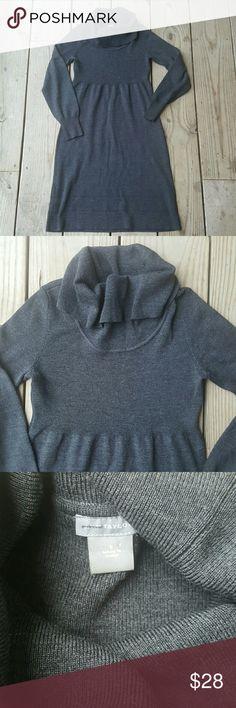 Ann Taylor Merino wool turtleneck sweater dress Extra fineMerino wool, lycra, charcoal, small, knit turtleneck Ann Taylor Dresses Midi