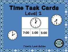 This is Level 2 of the set of task cards for time that I have created. Each level is differentiated to progressively get harder to help students learn time and improve their skills. In this level students have to match analog clocks by searching for the times in digital time form and match them accordingly.