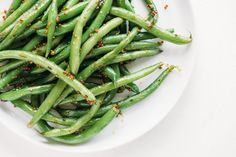 For a flavorful side dish with a classy twist, blanch the green beans and, when they're still hot, toss them with your favorite honey and a spoonful of grainy mustard.