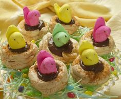 These are a delicious and light dessert- easy to make and really fun for Easter