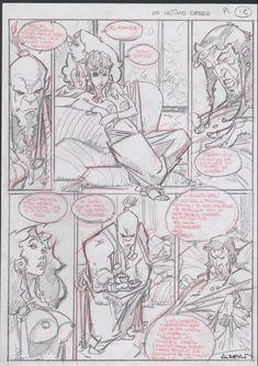 Azpiri, Alfonso - Original sketchpage (p.12) - Lorna - Un Último Deseo - W.B.