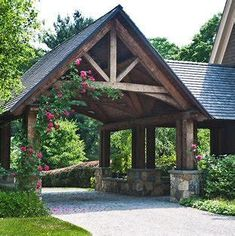 Image result for how to add a garage to a log cabin