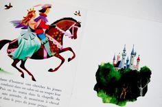 Petit livre d'argent. La Belle au Bois dormant. Vintage Children's Book : 1970 .Vintage illustration.