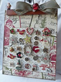 Love this magnet advent calendar - it's all in the details!