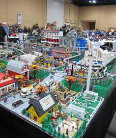 City of Legos  This is awesome. I loved building a city in the dining room with my brother's Legos.