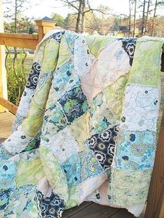 Found this Rag Quilt on Southern Charm Quilts!!  Gorgeous!!!
