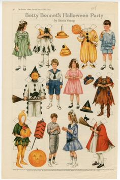 75.2930: Betty Bonnet's Halloween Party | paper doll | Paper Dolls | Dolls | National Museum of Play Online Collections | The Strong