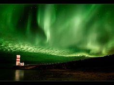 Garðskagaviti Aurora by orvaratli, via Flickr