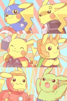 Pikachu as Avengers characters. I don't why this exists, but I think it's worth pinning 🙂 Pikachu as Avengers characters. I don't why this exists, but I think it's worth pinning 🙂 Pokemon Memes, Pokemon Fan Art, Pokemon Go, Pokemon Funny, Pokemon Fusion, Pokemon Cards, Pikachu Pikachu, Photo Pokémon, Pokemon Pictures