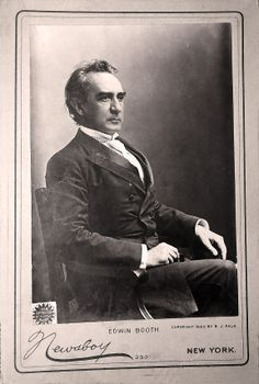 Edwin Booth, Brother of John Wilkes Booth, actor's promotional Cabinet Card
