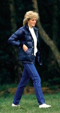 Princess Diana in denims. #royal #fashion