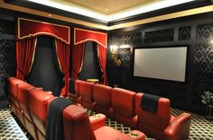 Baraque Home Theater Room by Jessy Krol
