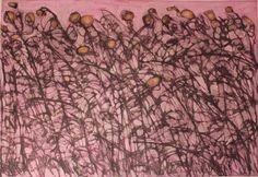 Oleo y grafito sobre carton blanco. 70 x 100 cms. 2016