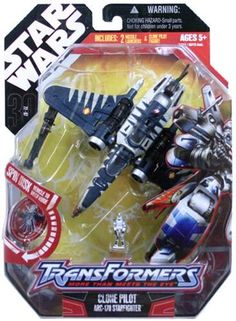 Transformers Clone Pilot Starfighter, includes 2 missile launchers and mini Clone Pilot figure Arc 170, Hasbro Transformers, Action Figures, Pilot, Star Wars, Mini, Pilots, Starwars, Star Wars Art
