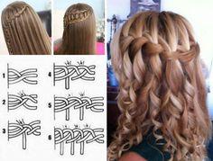 Creative Ideas - DIY Stylish Waterfall Braid Hairstyle #DIY #fashion #hairstyle