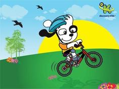 doki en bicicleta