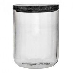 Jar w/Lid, Clear Glass w/Grey Marble Lid Bloomingville – Trend-On-Line