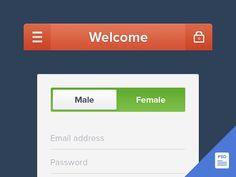 Freebie: Register UI UI Kit - http://www.vectorarea.com/freebie-register-ui-ui-kit