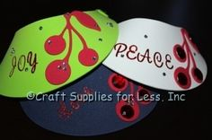 Fruit of the Spirit Foam Visor Craft.  Great for Women's Ministry Event or Kids Craft.
