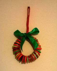 Christmas tree decoration button miniature wreath - pinned by pin4etsy.com