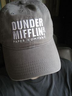 DUNDER MIFFLIN baseball cap by No Biggy, via Flickr