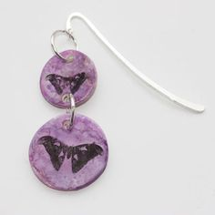 Polymer Clay Purple Butterfly Bookmark