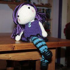 Violet Moon - crochet doll