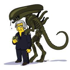 H.R. Giger Simpsonized - http://www.dravenstales.ch/h-r-giger-simpsonized/