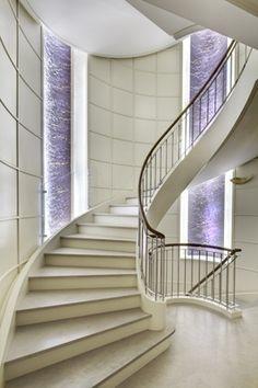Great stairway!    | stairway | #stairway #office http://www.ironageoffice.com/