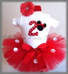 2nd Minnie Mouse Birthday Outfit Minnie Outfit by RBKBoutique, $40.00