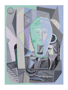 'Sculpted Head' by Yvette Coppersmith, oil on linen, 84cm x 62cm, 2015. Design Files, Blog Design, Still Life, Sculpting, Sculpture, Still Life Drawing