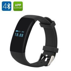 DFit Smart Sports Bracelet - BT 4.0,  IP66 Waterproof, Pedometer, Heart Rate Monitor, Sleep Monitor, Call Reminder (Black)