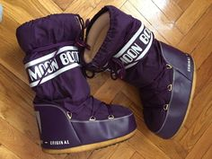 Purple Men MOON BOOTS snow winter shoes warm comfy Sz EUR 42-44 #MoonBoots #Winter Hot Tickets, Moon Boots, Designer Boots, Winter Shoes, Work Casual, Moccasins, Thrifting, Ankle Boots, Slip On