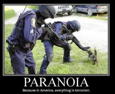 Paranoia - Because in America, everything is terrorism.