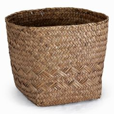 Alexa Med Square Bottom with Round Top Rim Planter-Coffee 8in These are great for waste baskets in bathrooms and bedrooms.  $2 each