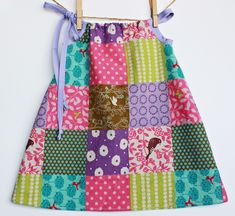 Patchwork Dress Made with Quality Imported Linen / by bittybambu,
