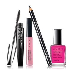 Online Exclusive!Create a romantic look thats set in pink for notice me lips, eyes and nails thats flirty and feminine. Set Includes: Ultra Glazewear Lip Gloss-Candy Pink .21 oz. net wt. A $6.00 value. Ultra Luxury Eye Liner-Black .04 oz. net wt. A $5.00 value. Nailwear Pro+ Nail Enamel-Viva Pink .4 fl. oz. A $6.00 value. SuperExtend Winged Out Mascara-Blackest Black .237 fl. oz. A $8.00 value.