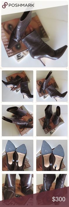 🆕 Listing! EUC Jimmy Choo Brown Ankle Boots EUC Authentic Jimmy Choo Brown Ankle Boots. There are some wear creases in the leather, but still a great looking shoe. Lots of life and fun still to be had in these. See 2nd photo for photo detail. See last picture for measurement details. Shoes are listed as size 37 (US 7)  but run more like a 6.5. No box; no dust bag.  NO TRADES! Jimmy Choo Shoes Ankle Boots & Booties